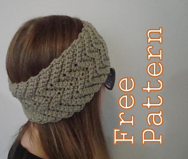 Free Crochet Chevron Ear Warmer Pattern : 365 Crochet