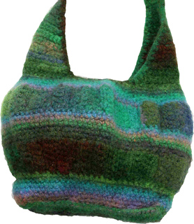 Crochet Felted Tote Bag Pattern : Ravelry: Felted Crochet Noro Kureyon Hobo Bag pattern by ...