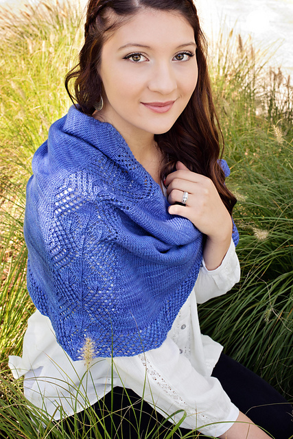 Oregon Lupine Shawl