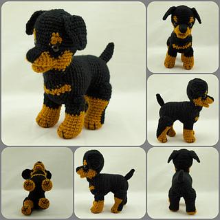 Tinkerbell Amigurumi Free Pattern : Ravelry: Rottweiler puppy pattern by Rosaura Valdez