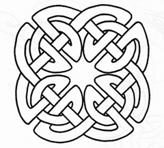 Celtic Knot 2 on intarsia circle pattern