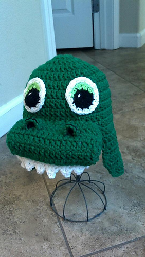 Free Crochet Pattern For Dinosaur Beanie : Ravelry: alligator dinosaur beanie pattern by Amber Flowers