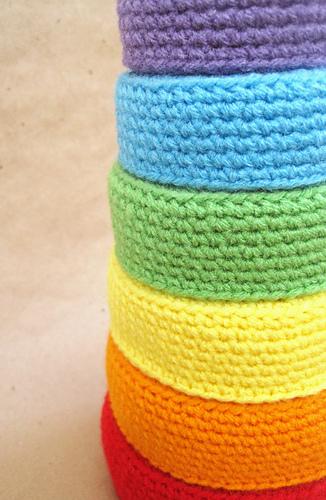 Free Crochet Pattern Newborn Nesting Bowl : Ravelry: Rainbow Nesting Bowls pattern by Kimberly Young