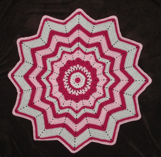 Ravelry Flower Round Ripple 12 Point Pattern By Donna