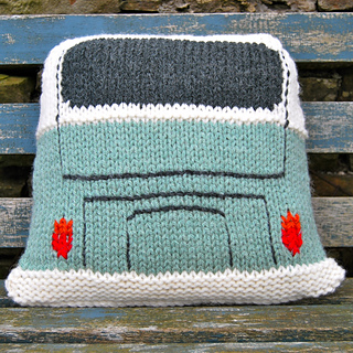 Vw Campervan Knitting Pattern : Ravelry: Cushion based on the VW Splitscreen Campervan pattern by Tracy Harri...