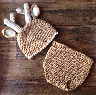 Free Crochet Deer Diaper Cover Pattern : Ravelry: Deer Diaper Cover and Hat Set pattern by Shannon ...