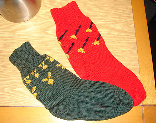 House Elf Socks, inspired by Dobby! (Photo taken direct from Ravelry).