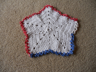 Free Crochet Star Dishcloth Pattern : Ravelry: Christmas Star Dishcloth pattern by Maggie Weldon