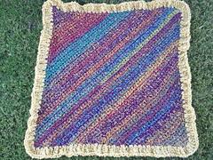 Ravelry Diagonal Pattern Baby Blanket Crochet Pattern