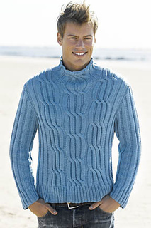Ravelry Men S Cabled Turtleneck Pattern By Wallace Shaw