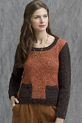 Log Cabin Colorblock Pullover PDF