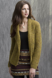 Gold Coast Shawl-Collar Cardigan PDF