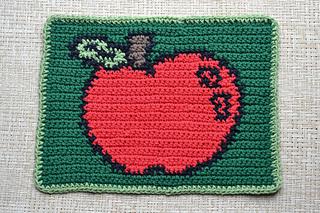 Ravelry: Apple Dishcloth pattern by Sara Koenig