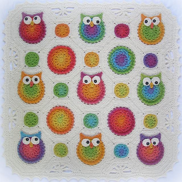 Crochet Pattern Owl Obsession Free : Egle: Granny square / mattonelle alluncinetto e ai ferri