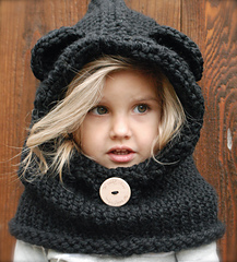 photo patron tricot snood capuche