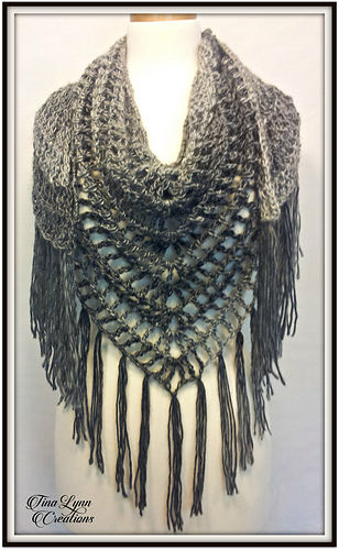 Quick And Easy Crochet Shawl Patterns Free : Ravelry: Shamdana Shawl pattern by Tina Lynn Creations