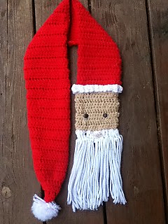 Free Knitting Patterns For Christmas Scarves : Ravelry: Santa Scarf pattern by Kate Skalicky