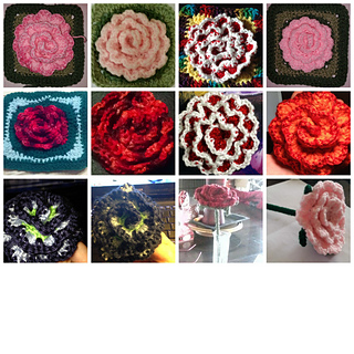 Free Crochet Pattern For Cabbage Rose : Ravelry: no roll cabbage rose/square block pattern by ...