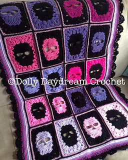Ravelry Skull Blanket Pattern By Dolly Daydream Crochet