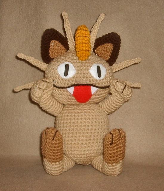 Схема вязания покемона мяута