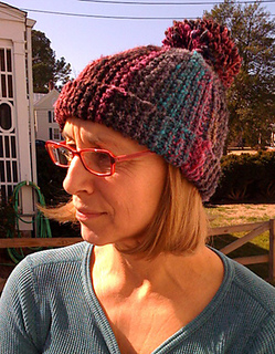 Knitting Pattern For Bobble Hat : Ravelry: Sideways Bobble Hat pattern by Woolly Wormhead