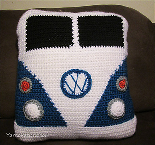 Ravelry: VW Van Pillow pattern by Yarn Twins