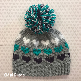 Big Heart Knitting Pattern : Ravelry: Big Heart Knit Look Hat pattern by Kelsey Daughtry