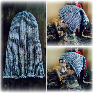 Loom Knit Rib Stitch Hat : Ravelry: Loom Knit Rib Stitch Mens Hat pattern by Denise Canela