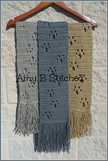 Ravelry Meandering Paw Prints Pattern By Amy B Stitched