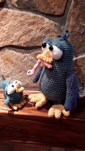 Ravelry: Burton and Bertie the birds pattern by Ildiko ...