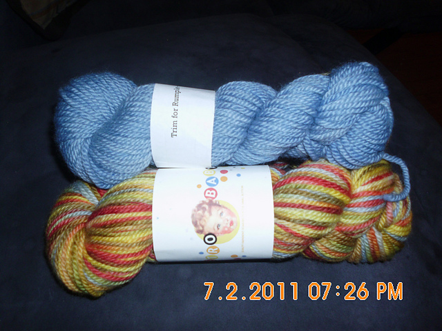 RetroBaby Rumple on BFL aran