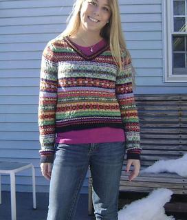 Ravelry: V neck Fair Isle Sweater pattern by Debbie Bliss