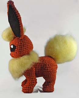 Advanced Amigurumi Shapes : Ravelry: Flareon Inspired Amigurumi (Pokemon) pattern by ...