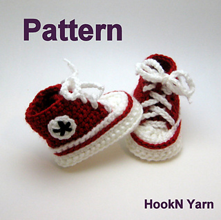 Free Crochet Pattern For Baby High Tops : Ravelry: Booties, Baby Converse, High Tops pattern by ...
