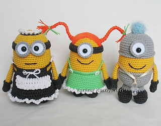 Ravelry: Cute little yellow monsters pattern by Amigurumi Fair