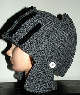Crochet Pattern Helmet Hat : Ravelry: Mens Knight Helmet Hat pattern by Amy Lehman