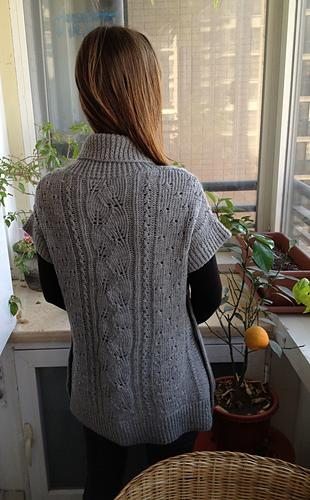 Ravelry: Tabard Vest / Shawl Collar Slipover pattern by Lion Brand Yarn