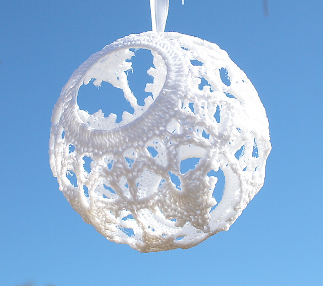 Snowflake ball ornament