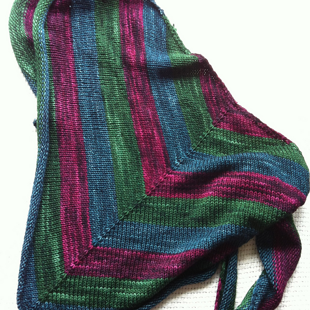 stripey triangle shawl