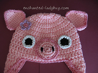 Ravelry: Crochet Pig Earflap Baby Hat pattern by The ...