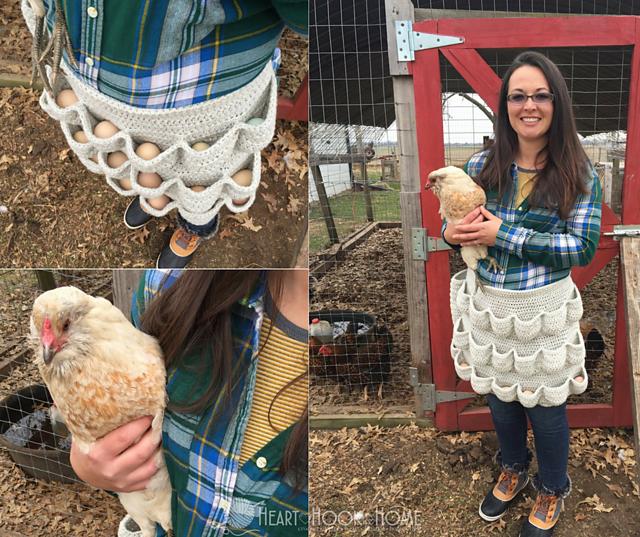 tablier au crochet pour éleveurs de poules Egg-cellent Apron par Ashlea Konecny
