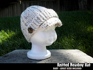 Ravelry: Quick & Easy Knitted Newsboy Hat pattern by Janet ...