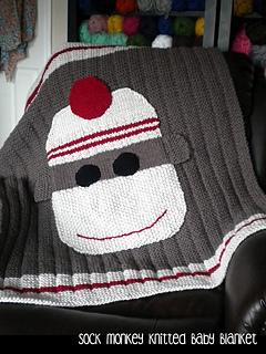 Monkey Baby Blanket Knitting Pattern : Ravelry: Sock Monkey Baby Blanket pattern by Janet Jameson