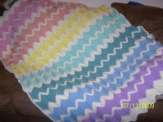 Ravelry Pastel Rainbow Ripple Afghan Pattern By Aleta Lyn