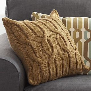 Free Knitting Patterns For Cushions In Cable Knit : Ravelry: Cable Vine Cushion pattern by Bernat Design Studio
