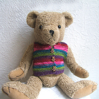 Knitting Pattern For Teddy Bear Waistcoat : Ravelry: Childs Educational Knit and Maths Project 5 of 10 teddy Waistcoat pa...