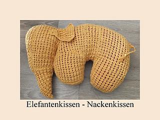 ravelry elefanten kissen german crochet pattern for. Black Bedroom Furniture Sets. Home Design Ideas