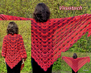 Crochet Pattern Virus Shawl : Virus shawl / Virustuch by Julia Marquardt