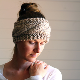Ravelry: Cable Knit Headband pattern by Brome Fields