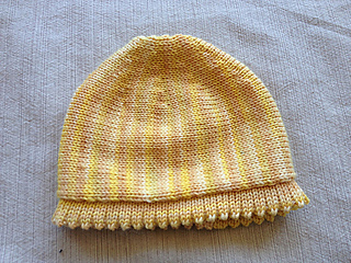 Free Knitting Patterns For Hooded Scarves : Ravelry: Machine Knitting Short Row Baby Hat pattern by Diana Sullivan